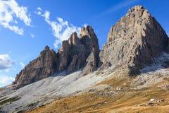 Tre Cime Di Lavaredo mountains Royalty Free Stock Images