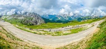 Tre Cime Di Lavaredo. Panoramic view in the italian mountains Stock Photography