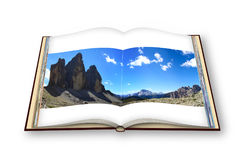 Tre cime di Lavaredo panoramic view - Italy Stock Photo