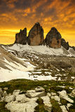 Tre cime di Lavaredo Royalty Free Stock Photo