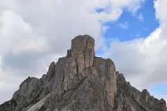 Tre Cime di Lavaredo surroundings and Dolomiti stock image