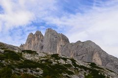 Tre Cime di Lavaredo surroundings royalty free stock image