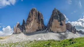 Tre Cime Di lavaredo. Three Peaks in the Italian Dolomite Stock Image