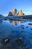 Tre Cime. Dolomite Alps, Italy. Tre cime di Lavaredo. Dolomite Alps, Italy Royalty Free Stock Image