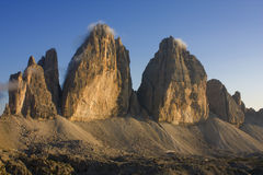 Tre cime Lavaredo Royalty Free Stock Photography