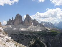 Tre Cime Lavaredo 3 Stock Photography