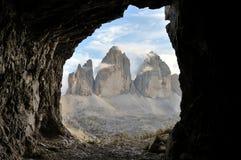 Tre cime Lavaredo stock photography
