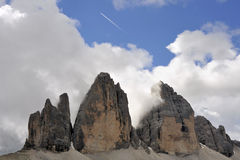 Tre Cime mountain, Italian Alps. Stock Images