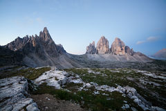 Tre Cime at sunrise Stock Photography