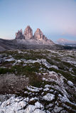 Tre Cime at sunrise Royalty Free Stock Photos