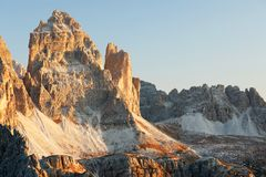 Free Tre Cime - Three Peaks Di Lavaredo - Drei Zinnen, Are Three Of The Most Famous Peaks Of The Dolomites, In The Sesto Dolomites. Royalty Free Stock Photos - 162976358