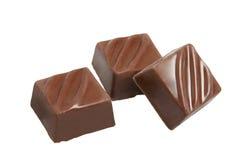 Tre cioccolato Fotografie Stock Libere da Diritti