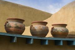 Tre Clay Pots Immagine Stock Libera da Diritti