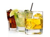 Tre cocktail Fotografia Stock