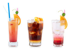 Tre cocktail decorativi Fotografie Stock