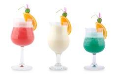Tre cocktail decorativi Fotografia Stock
