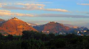 Tre colline di Alora, Andalusia Immagini Stock