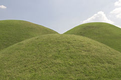 Tre colline, il Sud Corea Fotografia Stock Libera da Diritti