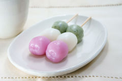 Tre colori Dango Immagine Stock