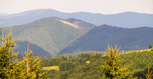 Tre colori delle montagne di Balcani in Bulgaria Immagini Stock Libere da Diritti