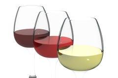 Tre colori di vino Immagine Stock Libera da Diritti