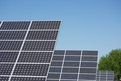 Tre comitati solari immagine stock libera da diritti