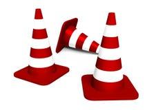 Tre coni di traffico illustrazione di stock