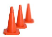 Tre coni di traffico Immagine Stock Libera da Diritti