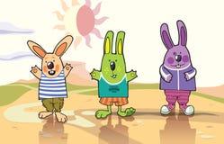 Tre conigli Immagine Stock Libera da Diritti