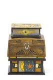 Tre contenitori di gioielli di legno Immagini Stock