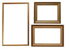 Tre cornici isolate Fotografia Stock