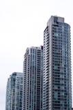Tre costruzioni del condominio Immagine Stock