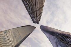 Tre costruzioni le più alte Fotografia Stock Libera da Diritti