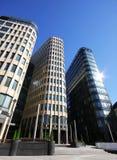 Tre costruzioni moderne Immagini Stock