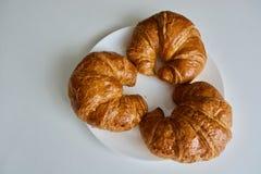 Tre croissant Fotografie Stock Libere da Diritti