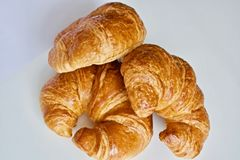 Tre croissant Fotografie Stock