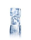 Tre cubi di ghiaccio Immagini Stock