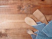 Tre cucchiai di legno Fotografia Stock