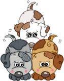 Tre cuccioli svegli illustrazione di stock