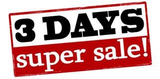 Tre dagar toppen försäljning Royaltyfria Foton