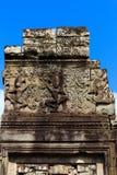 Tre dansa Apsaras i den Bayon templet Royaltyfri Bild