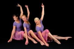 Tre danzatori di balletto Immagini Stock