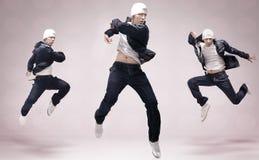 Tre danzatori di hip-hop Fotografia Stock Libera da Diritti