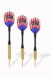 Tre dardi con le bandierine degli Stati Uniti Immagine Stock