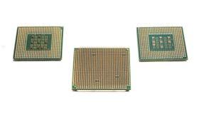 Tre datorprocessorer Royaltyfri Bild
