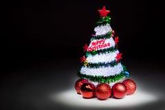Tre de la Navidad con las luces Imágenes de archivo libres de regalías