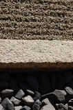 Tre differenti dei materiali naturali a Ryoan-ji Fotografia Stock Libera da Diritti