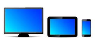 Tre digitala apparater Royaltyfri Bild