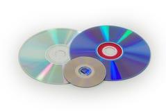 Tre dischi Fotografia Stock Libera da Diritti