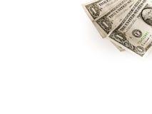 Tre dollari sull'angolo dritto Fotografia Stock Libera da Diritti